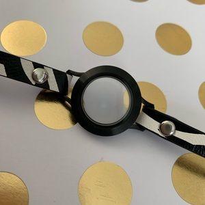Origami Owl zebra leather wrap bracelet